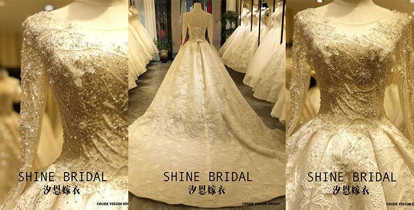 婚礼当天,你需要一件完美嫁衣 SHINE BRIDAL